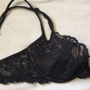 Victoria's Secret Intimates & Sleepwear - [ Victoria's Secret Sexy Black Lace Demi Bra ] 34c